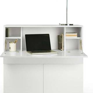 Bílý pracovní stůl TemaHome Focus, 110 x 109 cm
