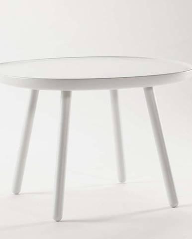 Bílý stolek z masivu EMKO Naïve, ø64cm
