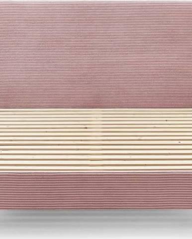 Růžová manšestrová dvoulůžková postel Bobochic Paris Anja Dark, 180 x 200 cm