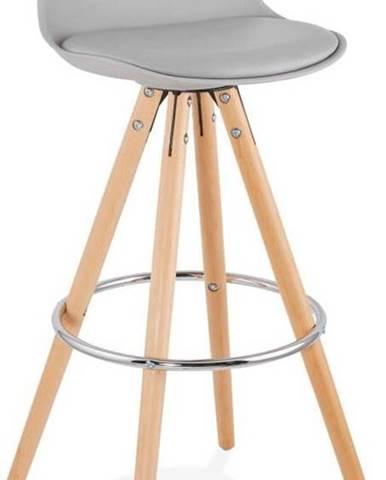 Šedá barová židle Kokoon Anau, výškasedu74cm