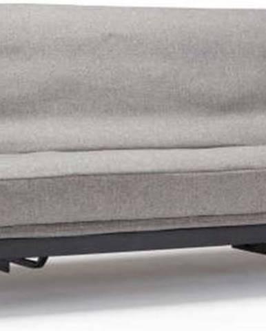 Šedá rozkládací pohovka se snímatelným potahem Innovation Mimer Mixed Dance Grey
