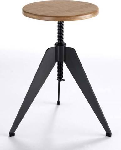 Stolička se sedátkem z dubového dřeva Tomasucci Arco