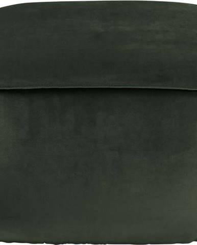Tmavě zelený sametový puf Actona Mie, 60x60 cm