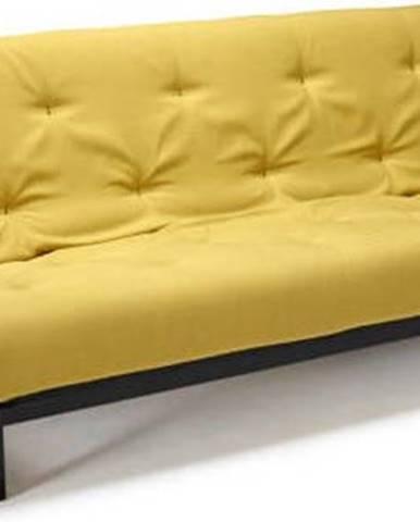 Žlutá rozkládací pohovka Innovation Fraction Elegant Soft Mustard Flower, 97x200cm