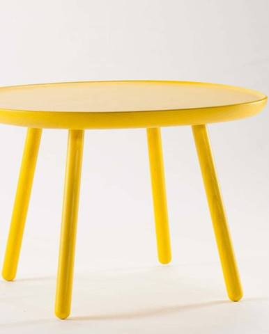 Žlutý stolek z masivu EMKO Naïve, ø64cm