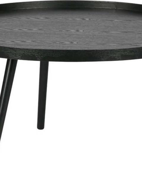 WOOOD Černý konferenční stolek WOOOD Mesa, Ø78cm