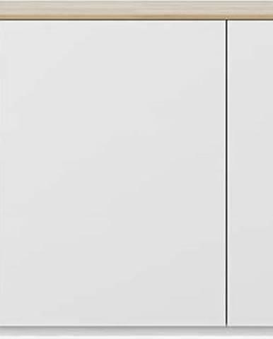 Bílá komoda s deskou v dubovém dekoru TemaHome Join, 180 x 84 cm
