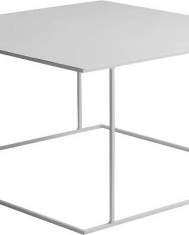 Bílý konferenční stolek Custom Form Walt, 80x80cm