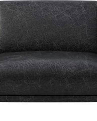 Černá kožená pohovka MESONICA Puzo, 240 cm