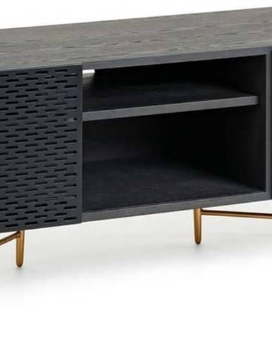 Černý TV stolek La Forma Norfort