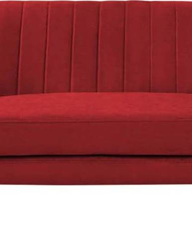 Červená sametová pohovka Mazzini Sofas Sardaigne, 158 cm