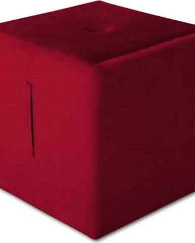 Červený puf Mazzini Sofas Margaret, 40 x 45 cm