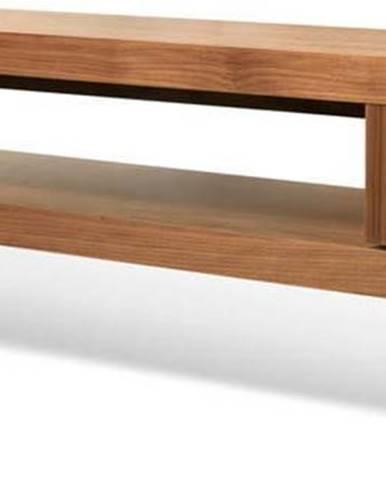 Hnědý dvojitý TV stolek TemaHome Cliff, 125 x 40 cm