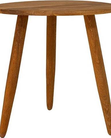 Odkládací stolek z masivního dubového dřeva Canett Uno, ø40cm