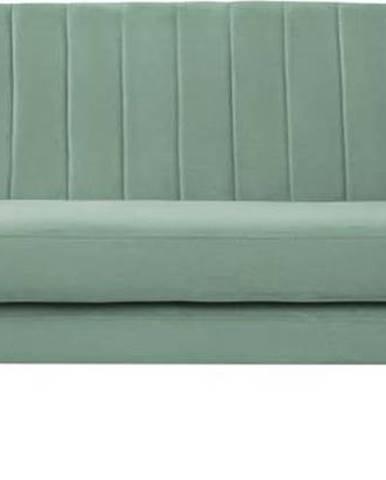 Mentolově zelená sametová pohovka Mazzini Sofas Sardaigne, 188 cm