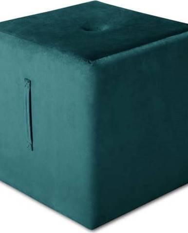 Petrolejově modrý puf Mazzini Sofas Margaret, 40 x 45 cm