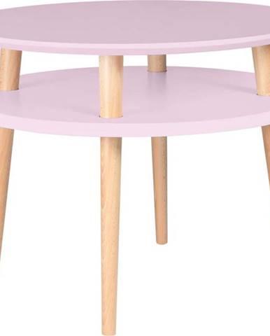 Růžový konferenční stolek Ragaba UFO,Ø57cm