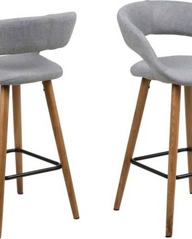 Sada 2 šedých barových židlí Actona Gill