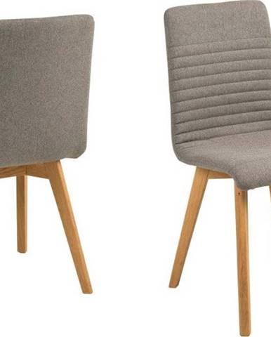 Sada 2 světle šedých jídelních židlí Actona Arosa