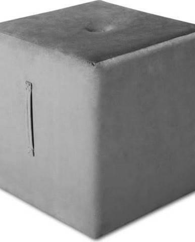 Světle šedý puf Mazzini Sofas Margaret, 40 x 45 cm