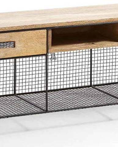 Televizní stolek z mangového dřeva La Forma Interni, 120,5 x 46 cm