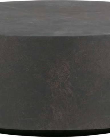 Tmavě hnědý konferenční stolek z vláknitého jílu WOOOD Dean, Ø80cm
