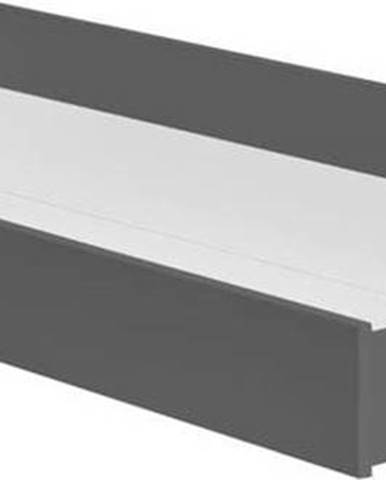 Tmavě šedá zásuvka pod dětskou postel Pinio Snap