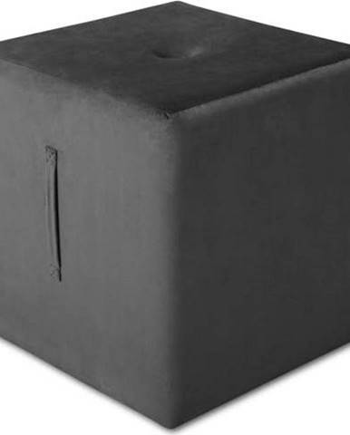 Tmavě šedý puf Mazzini Sofas Margaret, 40 x 45 cm
