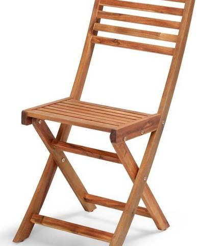 Skládací zahradní židle z akáciového dřeva Le Bonom Natur
