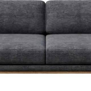 Tmavě šedá pohovka MESONICA Musso, 211 cm