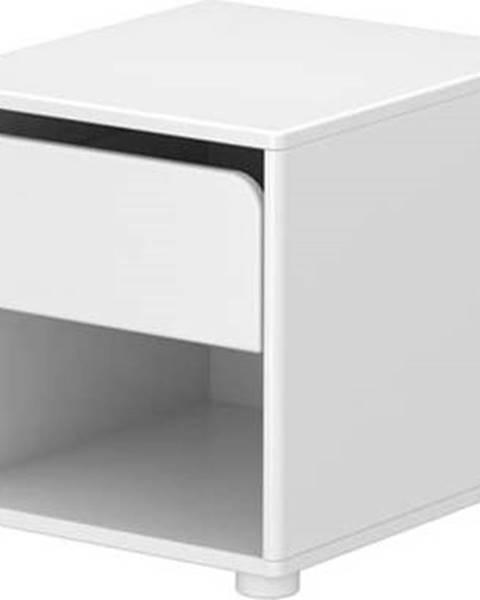 Flexa Bílý dětský noční stolek Flexa Cabby