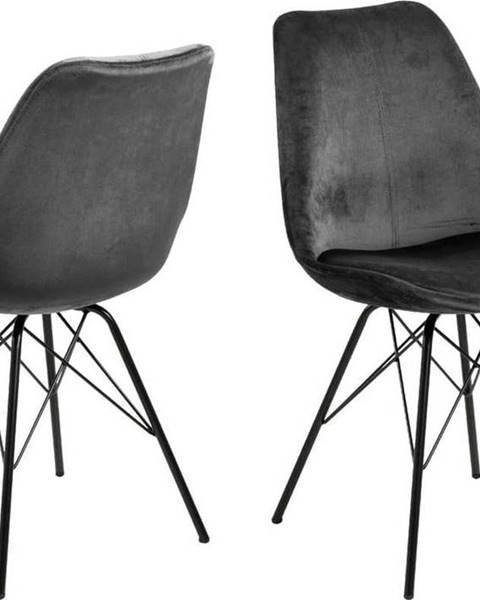 Actona Šedá jídelní židle s černým podnožím Actona Eris
