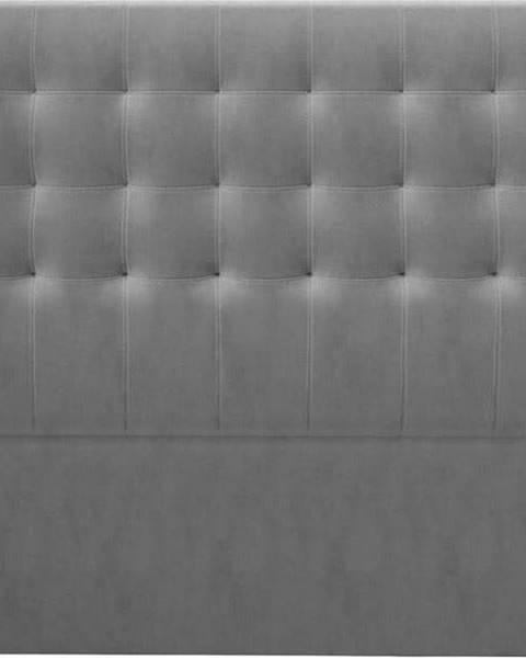 Windsor & Co Sofas Šedé čelo postele se sametovým potahem Windsor & Co Sofas Athena, 200x120cm