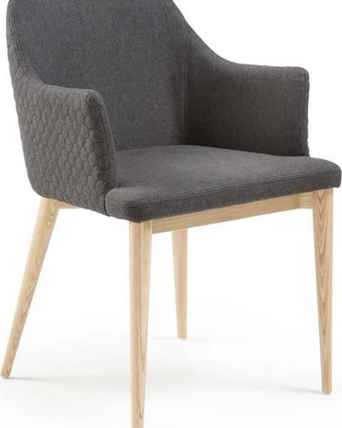 La Forma Tmavě šedá jídelní židle La Forma Danai