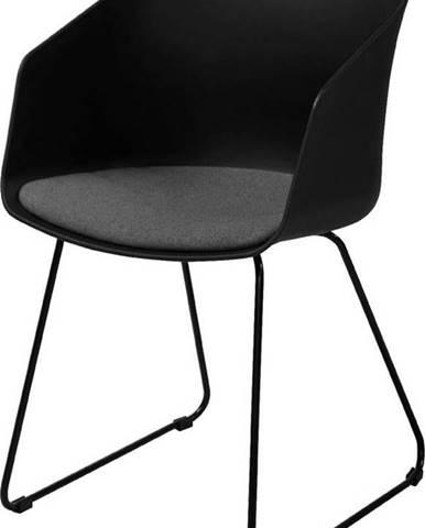 Černá jídelní židle Interstil Moon 40