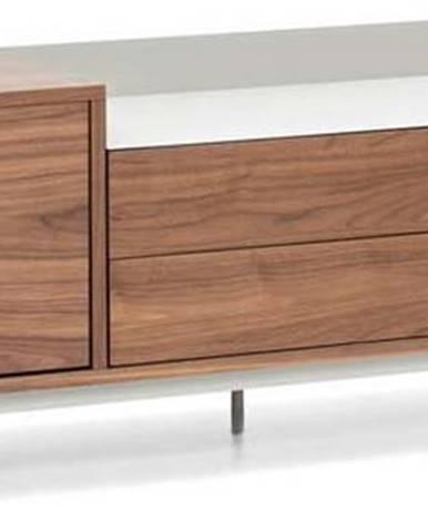 Hnědo-šedý televizní stolek Teulat Valley