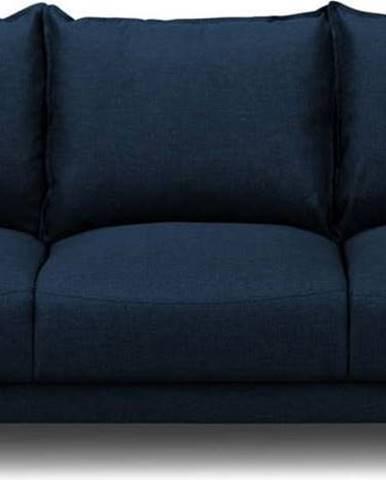 Modrá rozkládací pohovka súložným prostorem Mazzini Sofas Ancolie, 215 cm