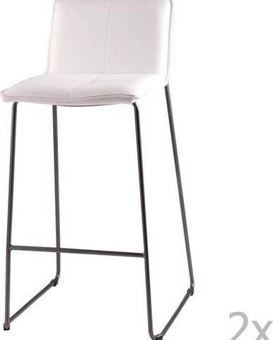 Sada 2 bílých barových židlí sømcasa Lou