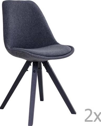 Sada 2 šedých jídelních židlí House Nordic Bergen