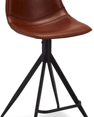 Sada 2 světle hnědých barových židlí Furnhouse Isabel
