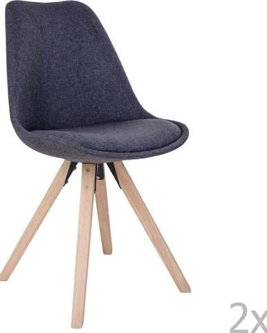 Sada 2 tmavě šedých židlí House Nordic Bergen