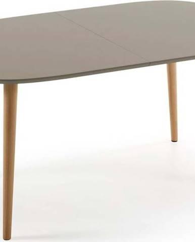 Šedý rozkládací jídelní stůl La Forma Oakland, 160 x 100 cm