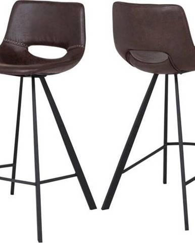 Tmavě hnědá barová židle Canett Coronas, výška87cm