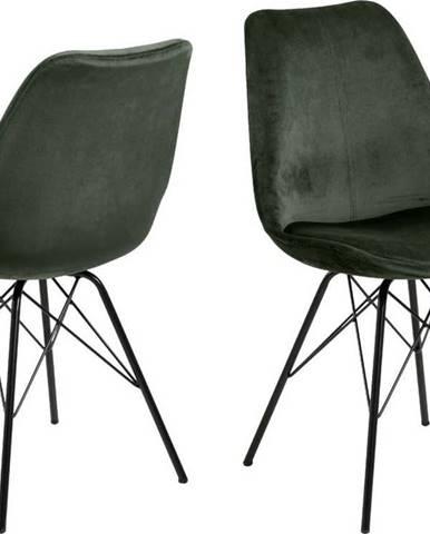 Tmavě zelená jídelní židle Actona Eris