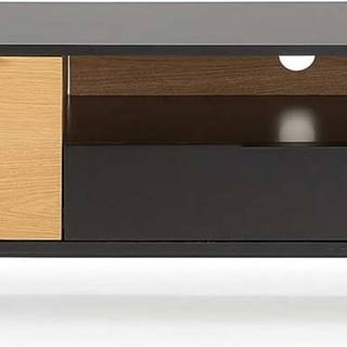 Černo-hnědý TV stolek La Forma SAVOI, 120 x 50 cm