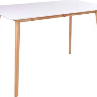 Jídelní stůl s bílou deskou loomi.design Vojens, 120 x 70 cm