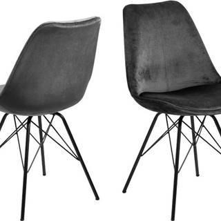 Šedá jídelní židle s černým podnožím Actona Eris