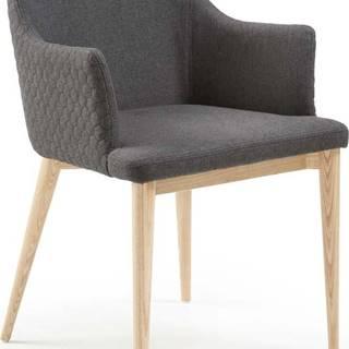 Tmavě šedá jídelní židle La Forma Danai