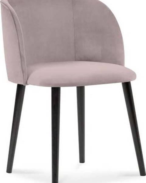 Windsor & Co Sofas Půdrově růžová jídelní židle se sametovým potahem Windsor & Co Sofas Aurora