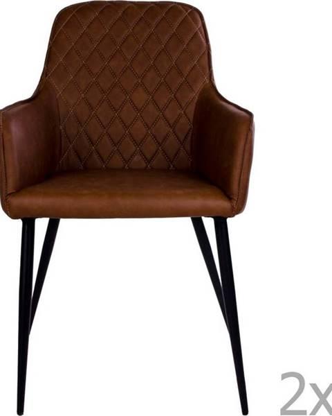 House Nordic Sada 2 hnědých jídelních židlí House Nordic Harbo